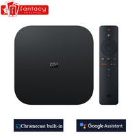 Global Xiaomi Mi TV Box S 4K HDR Android TV 8.1 Ultra HD 2G 8G WIFI Google Cast Netflix IPTV Set top Box 4 Media Player