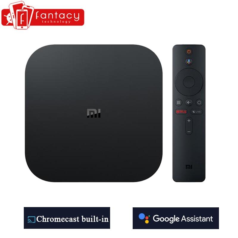 Globale Xiao mi mi TV Box S 4K HDR Android TV 8,1 Ultra HD 2G 8G WIFI google Cast Netflix IPTV Set top Box 4 Media Player