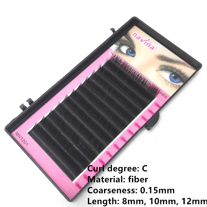 12 Rows Faux mink individual eyelash extension cilia lashes extension for professionals soft mink eyelash extension