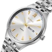 2017 hombres BlDEN marca moda casual reloj doble del calendario del reloj de 30 metros reloj impermeable reloj hombres de acero sólido