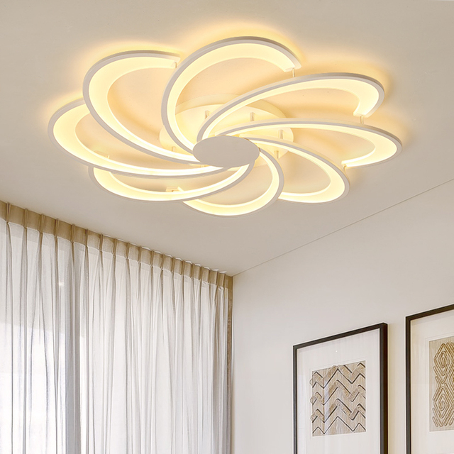 Creative Flowers led ceiling lights for living room lights bed room home lighting led lamp lampara techo ceiling lamp fixtures