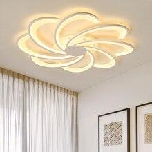 פרחי Creative led תקרת אורות סלון אורות מיטת חדר בית תאורת led מנורת lampara techo תקרת מנורת גופי