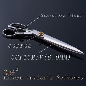 Image 3 - FENGZHU 12 inch Tailors Scissors stainless steel Professional Tailor Scissors Stainless Steel Garment Cutting Fabric  Sharp