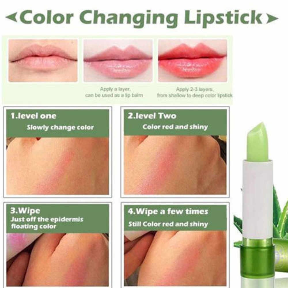 אלוורה טבעי קרם לחות שפתון טמפרטורה שונה צבע Lipbalm טבעי קסם ורוד מגן שפות קוסמטיקה איפור H