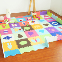 Baby Play Mat Stitching Foam Interlocking Floor Tiles Exercise Gym Playmat for Baby Solid Safety Puzzles Mat with Edges