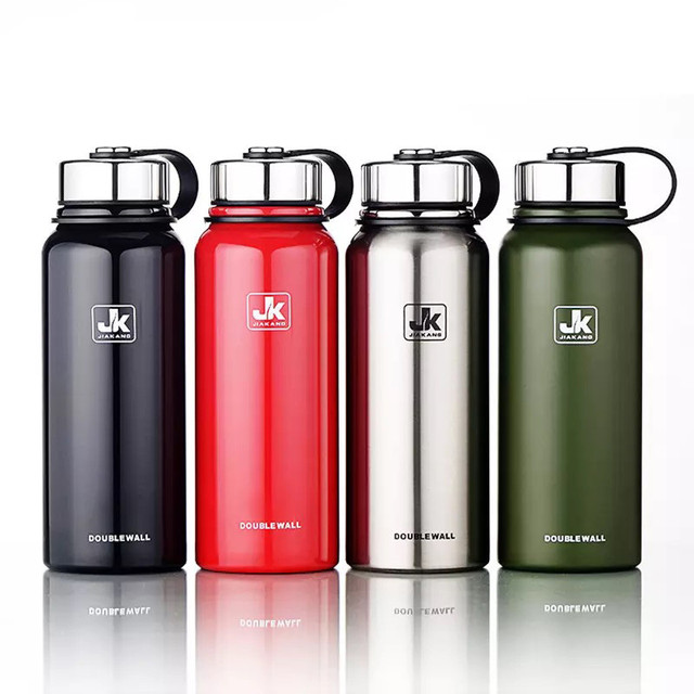 600/800/1100/1500ml Double Wall Thermos Cup Stainless Steel Vacuum Flask Insulation Bottle For Water Bottles Sports Shaker Mug