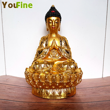 Bronze lotus base Tibetan Buddha statue pure copper paste gold craft Wanfo Temple small pieces of hot ornaments