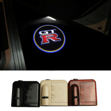 2X Wireless Magnetic Sensor GTR Logo Door Light Car LED Door Welcome Projector Logo Courtesy Ghost Shadow for Nissan GTR