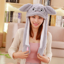 Шапка с кроличьими ушками, плюшевая шапка с подушкой безопасности для животных, кошек, собак, хомяков, оленей