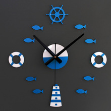 Mediterranean Sea 3D Wall Clock, Quiet Quart Movement