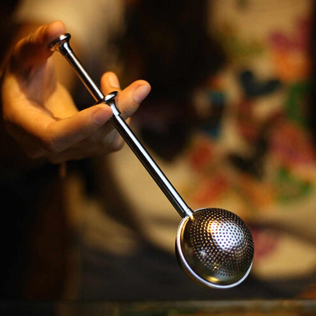נירוסטה רופף עלה תה נעילה כפית Infuser כדור מסנן Teaware מטבח כלים