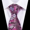 Novo Design de 100% gravata De Seda para Homens Floral Gravata Corbatas Hombre 7 cm Gravata Gravata Fina Laços De Casamento Vestido Formal Evento Social Muito