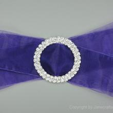 50mm 2Crystal Diamante Rhinestone Buckle Invitation Ribbon Slider for Chair Sash Wedding Supply Garment Accessories