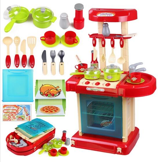 Chicas juguetes de cocina set kid utensilios de cocina para cocinar