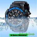 Irisshine i0635 New Men's Rubber Band LED Digital Sports Waterproof Diving Quartz Wrist Watch Men watches Gift