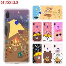 Couples Brown Cony Phone Case for Xiaomi Redmi S2 Y3 Y2 Note 7 7S 6 5 Pro 4 4X Mi Pocophone F1 9 8 A2 Lite Pattern Cover Coque