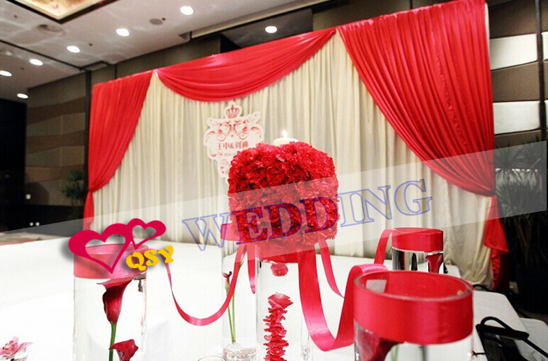 Beautiful Decorations Red Wedding Stage Backdrop Cloth Romantic Personalized In Party Backdrops From Home