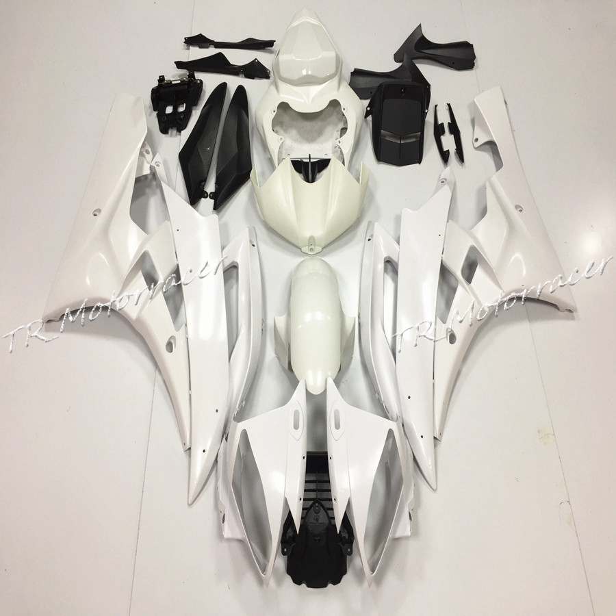 For Yamaha YZF R6 2006 2007 ABS Plastic Unpainted White Injection Fairing Bodywork Kit Motorcycle Accessories red black moto fairing kit for yamaha yzf600 yzf 600 r6 yzf r6 1998 2002 98 02 fairings custom made motorcycle bodywork c821