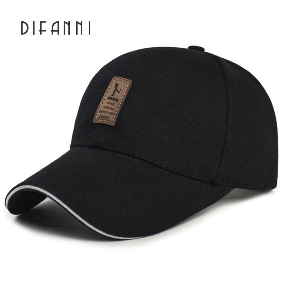 Difanni Fashion Cotton Baseball Cap Men Casquette Snapback Caps Hats For Men Brand Adjustable Caps New Gold Cap High Quality fashion printed skullies high quality autumn and winter printed beanie hats for men brand designer hats