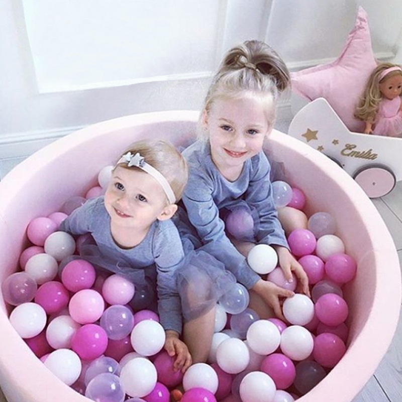 INS Kids Playpen Round Ocean Ball Pit Baby Pool Infant Sponge Children's Playpen Soft Colorful Ball Pits Baby Fence Room Decor