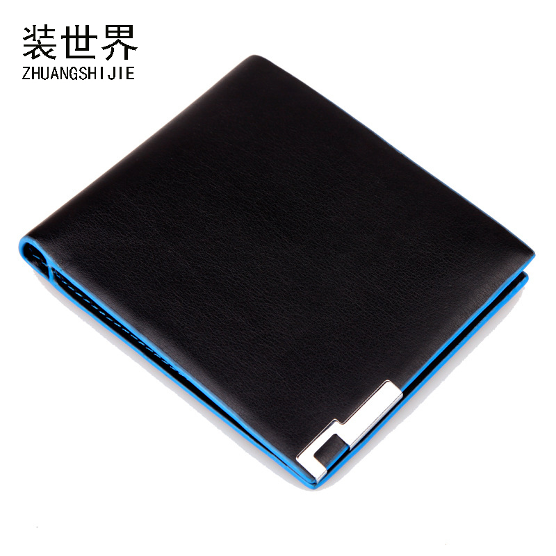 Famous Brand Business Leather Men Wallet Small Ultra Thin Card Holder Men Black Wallet ID Credit Card Holder Hasp Wallet BB084 portable 120 cards pvc matte antimagnetic leather business name id credit card holder keeper organizer book