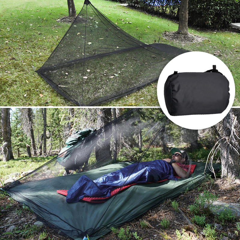 Mosquito Net Pyramide For 2/1 Person Bed Tent Nylon Head Lightweight Foldable Portable Outdoor Gear Camping Fishing Accessories