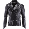 Leather Jacket Men Turn-down Collar Jaqueta De Couro Masculina PU Mens Leather Jackets Skull Punk Veste Cuir Homme