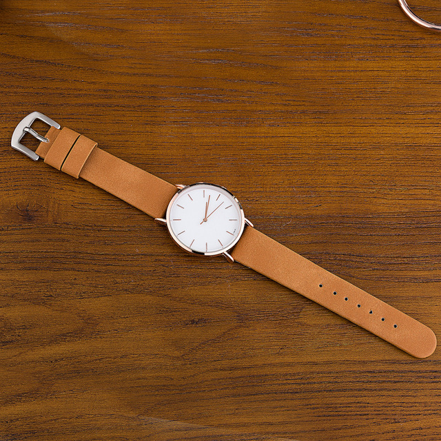 Couple Watch Khaki White For Male And Female 5