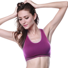 5 Color Professional Absorb Sweat Top Athletic Vest Tanks, Shockproof Gym Fitness Women Seamless Padded Sports Bra M L XL
