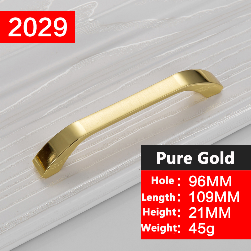 Concise Morden Gold Handles Cabinet Hardware Kitchen Cupboard Cabinet Handles Wardrobe Knobs Drawer Pull drawer handles YJ2029 high quality 1pc concise door handle gold hardware kitchen cupboard cabinet handles wardrobe handle drawer pull 96mm 128mm