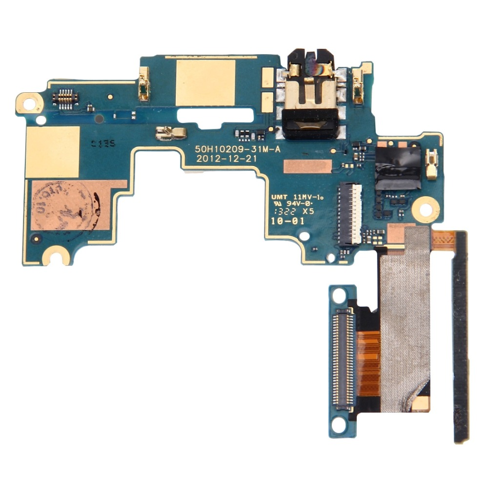 IPartsBuy Mainboard & Volume Control Button / Earphone Jack Flex Cable Replacement For HTC One M7 / 801e / 801n