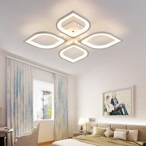 Image 4 - Lustre led moderne, luminaire dintérieur, corps en fer acrylique blanc, luminaire pour salon, chambre à coucher, salle à manger