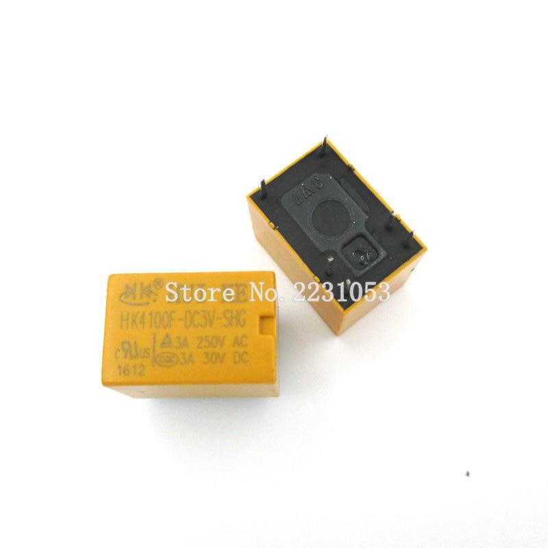 5PCS/LOT HK4100f-DC3V-SHG Relay hk4100F-DC3V HK4100F 3 V DIP6 3A 250V AC/ 3A 30V DC цена