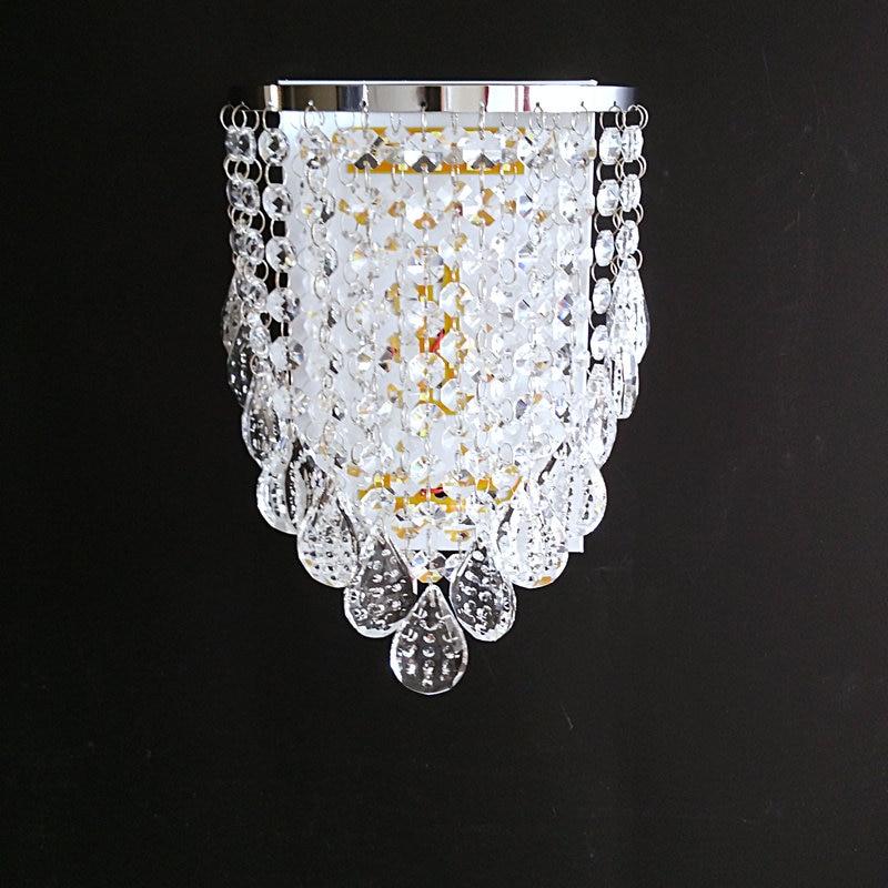 ФОТО LED k9 crystal wall lamp  modern sconces bed room light  living room lighting fixture free shipping