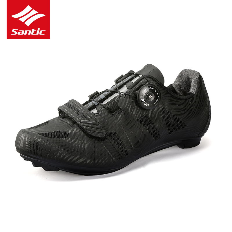 Santic Road Cycling Shoes Men Pro Bike Shoes Wearable TPU Breathable Racing Athletic Self-Locking Bicycle Shoes zapatos ciclismo santic men outdoor road cycling shoes nylon tpu sole bike shoes breathable self lock shoes ultralight bicycle shoes sapatos