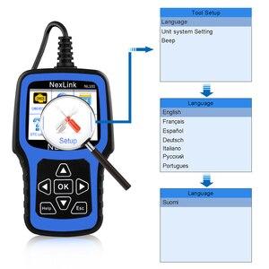 Image 4 - NEXAS NL101 OBD2 Ô Tô Máy Quét Động Cơ Vape Pin OBDII Máy Quét PK CR3001 ELM327 Chuyên Nghiệp EOBD OBD Xe Công Cụ Chẩn Đoán