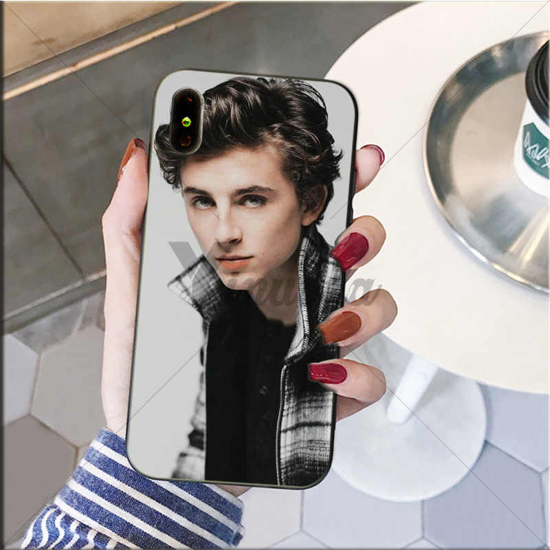 Yinuoda Timothee Chalamet Hitam Soft Shell Ponsel Cover untuk Apple iPhone 8 7 6 6S Plus X XS Max 5 5S SE XR Cover