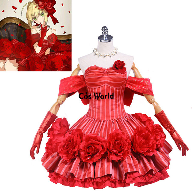 Fate EXTELLA Nero Red Saber Rose Formal Dresses Uniform Outfit Anime Cosplay Costumes  sc 1 st  AliExpress.com & Fate EXTELLA Nero Red Saber Rose Formal Dresses Uniform Outfit Anime ...
