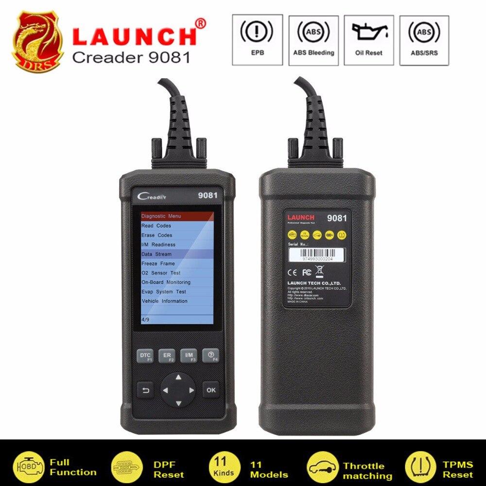 OBD2 Scanner Lançamento CReader 9081 Full OBD2 BMS Óleo EPB Ferramenta de Verificação de Diagnóstico Leitor de Código de Auto OBDII DPF TPMS ABS sangramento CR9081