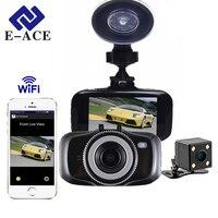 E-ACE Mini Car Camera Dvr Wifi Dash Camera Full HD 1080P Video Recorder With Dual Lens Auto Registratory Night Vision Dashcam