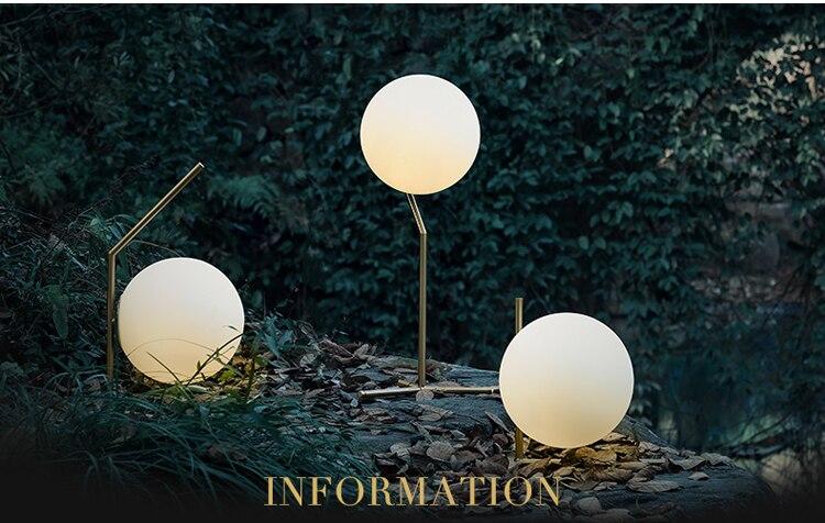 Lampe de Table moderne LED lampe de bureau en verre lune lampe de bureau avec abat-jour en verre blanc lait + livraison gratuite!