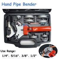 Dobrador da tubulação da mão da ferramenta de refrigeração 1/4 copper to a 1/2mm bender mm cobre/dobrador de tubo de alumínio 6/8/10/12mm WK-666