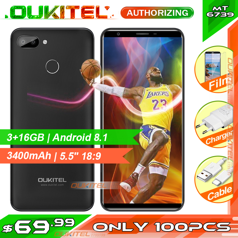 OUKITEL C11 Pro 5 5 MTK6739 Quad Core Android 8 1 4G LTE Smartphone 18 9