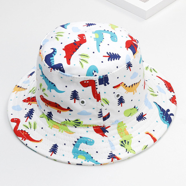 eb5ef4cab4 New 2019 Summer Baby Sun Hat Boys Caps Bucket Hats for Girls cotton baby  basin hat Cartoon Cap for Kids Sun Hat Caps Wholesale