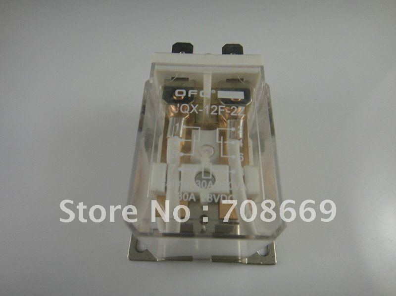 JQX-12F 30A 2Z DC 12V Coil PCB Power Relay 12VDC free shipping elecall 10pcs lot jqx 15f 1z dc48v miniature electromagnetic relay no 30a nc 20a 240vdc 28vdc 48vdc power relay