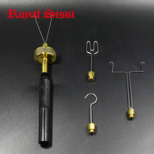 Royal Sissi Fly Dubbing SPINNER 4 หัวสิ่งที่แนบมาลูกปืนทองเหลือง LOOP Dubbing Twister Delux Fly tying เครื่องมือ