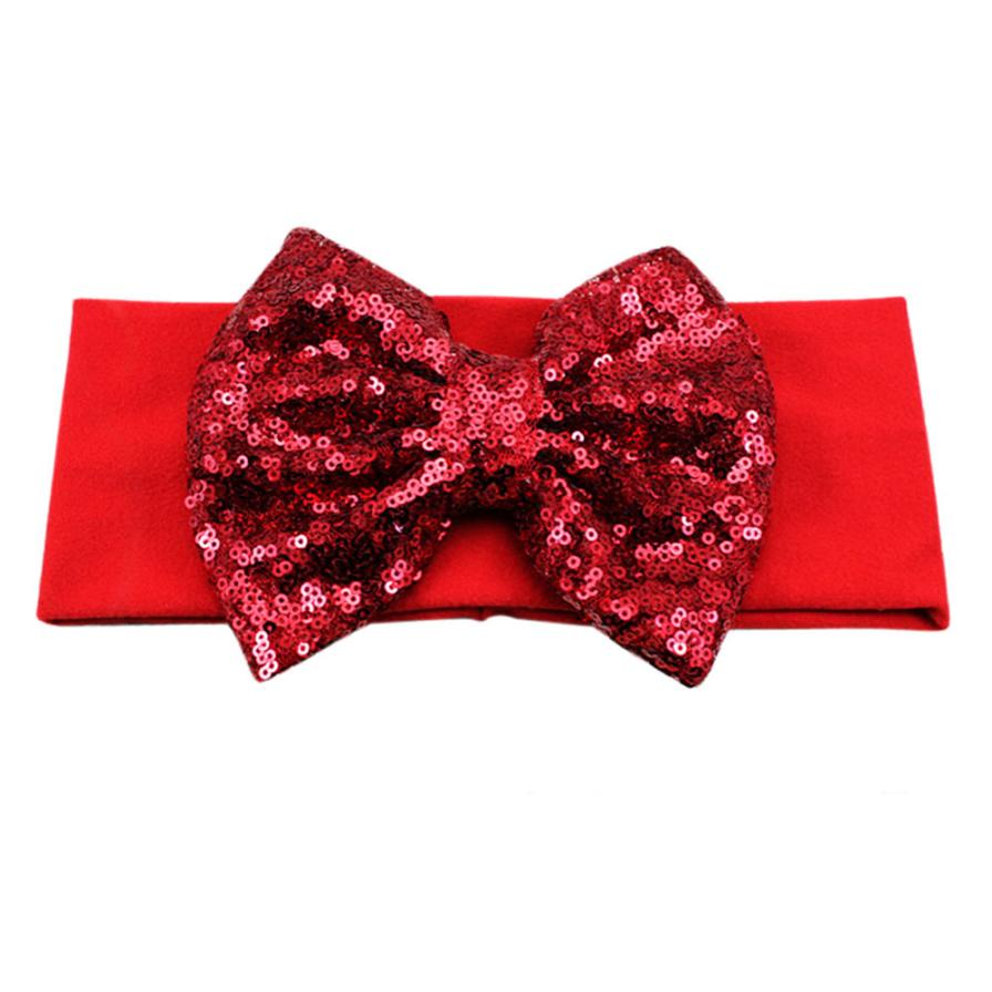 Women Bowknot Headband Cloth Hair Accessories Ladies Solid Stretch Cotton Butterfly Lead Hair Accessories 11 Colours