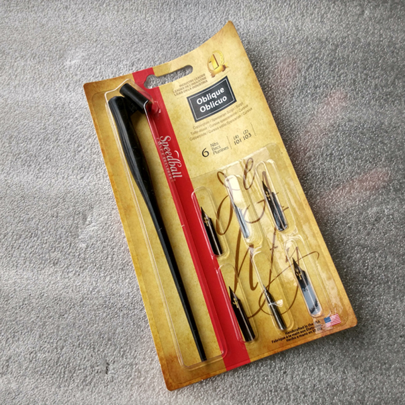 Elegant Oblique Calligraphy Pen Set English Copperplate