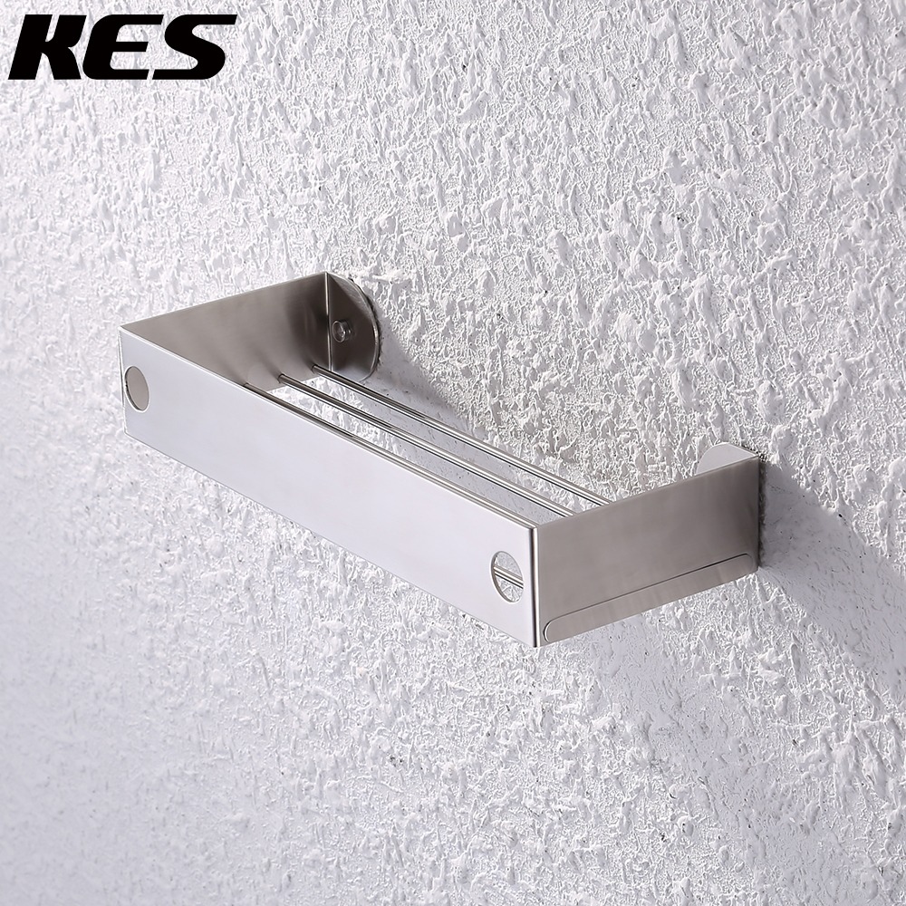 KES SUS 304 Stainless Steel Shower Caddy Shower Basket Bathroom Shelf Rustproof Wall Mounted Brushed Finish, BSC212S30A-2KES SUS 304 Stainless Steel Shower Caddy Shower Basket Bathroom Shelf Rustproof Wall Mounted Brushed Finish, BSC212S30A-2