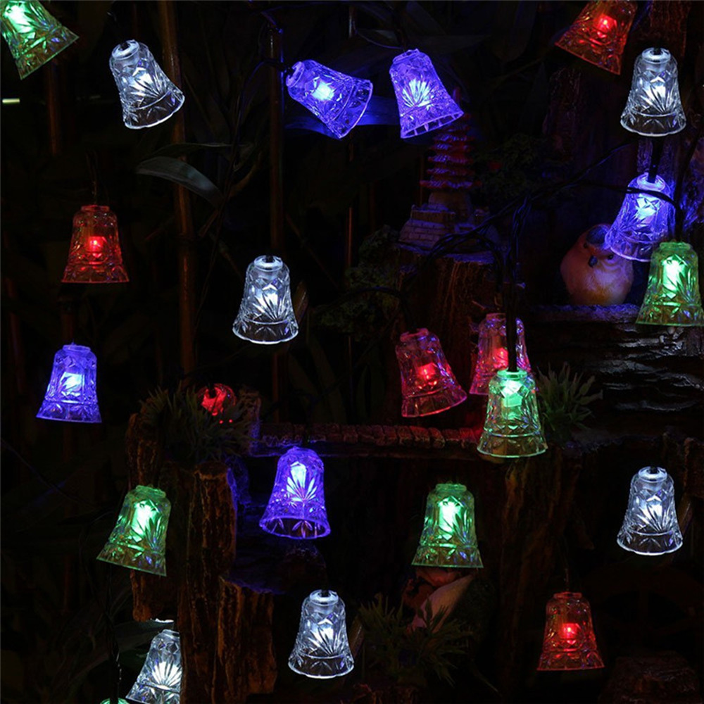 Holiday Decoration Led Lamp 110V/220V 4M 20 LEDs Waterproof Garland Christmas Lights Outdoor Small Bell String Lights Colorful